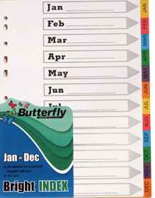 A4 File Dividers Bright Board - Jan-Dec