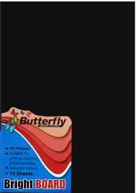 A4 Bright Board - Pack of 10 Black