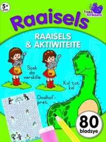 80 Bladsy Inkleur En Aktiwiteitsboek - Raaisels