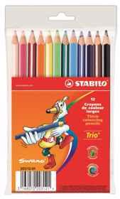Stabilo Trio Thick Triangular Colour Pencils 12's
