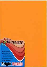A4 Bright Board - Pack of 10 Orange