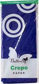 Crepe Paper - 1 Sheet (2m x 500mm) Dark Blue
