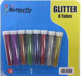 Glitter Shakers - 8 Tube (17ml)