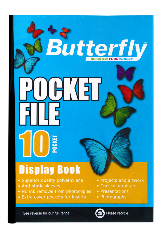 Butterfly Pocket File A4 10 Page