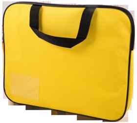 Homework Bag (Book Bag) With Handle - Yellow