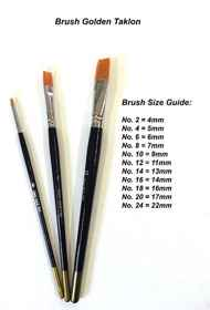 Acrylic Fibre Paint Brush No.8 - Golden Taklon