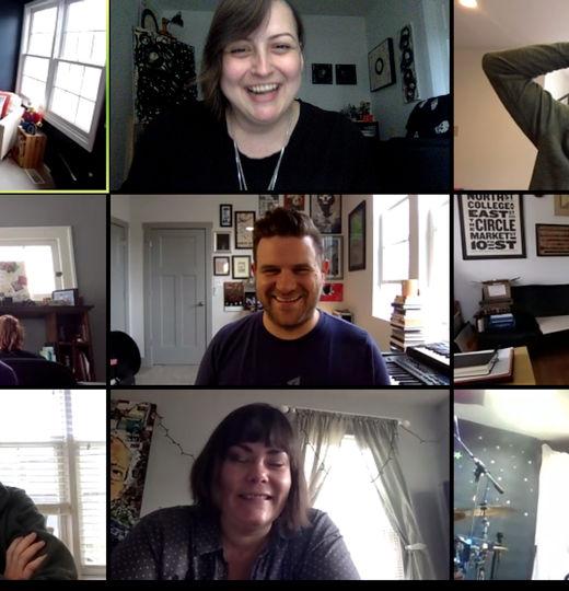 Zoom video meeting grid