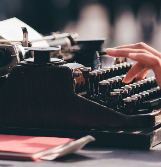 You can't actually use a typewriter to update web content.