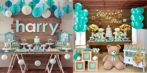 decoracion para mesa de dulces para bautizo