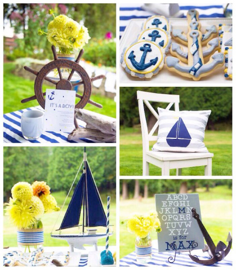 ideas bautizos baby shower marinerito