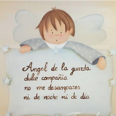 pequeña oración del Ángel de mi guarda
