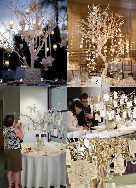 arboles de los deseos para boda o centros de mesa