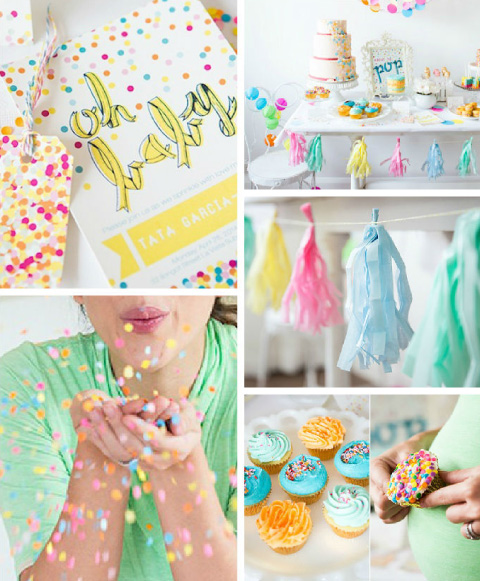Collage de ideas para baby shower