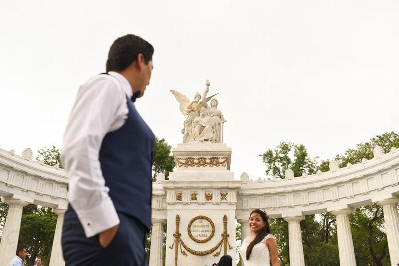 fotos de boda en la Alameda Central CDMX
