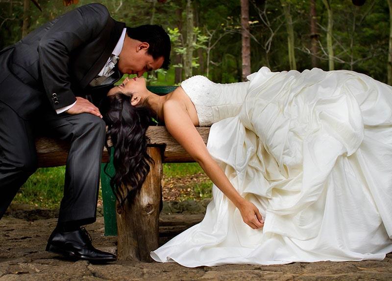 Fotografia de enamorados en Bosque de Tlalpan