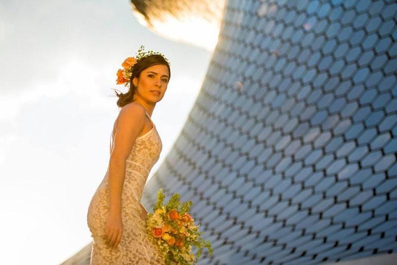 Fotos de boda en el Museo Soumaya CDMX