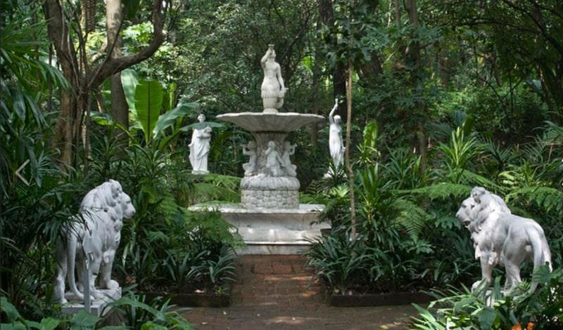 Jardín del Museo Casa de la Bola CDMX