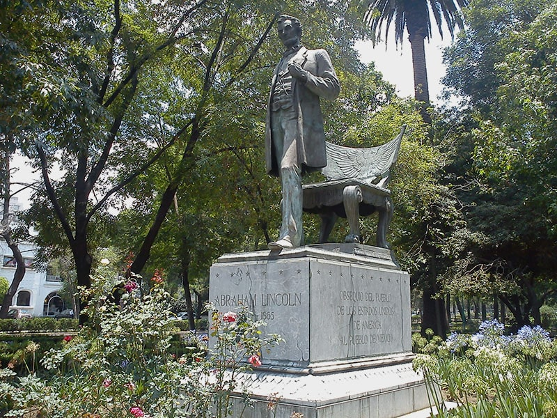 Parque Lincoln estatua en CDMX