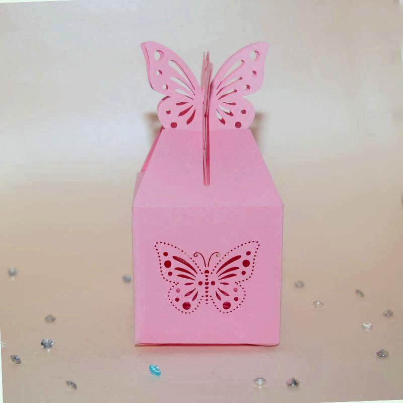 dulcero rosa para bautizo de niña_caja decorada con mariposa para bautizo de niña_caja decorada para mesa de dulces