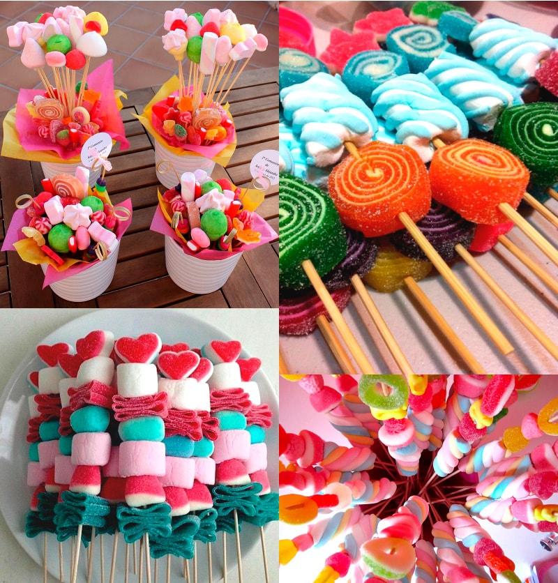 brochetas de gomitas para bautizo de niño y niña_recuerdos para bautizo con gomitas azucaradas