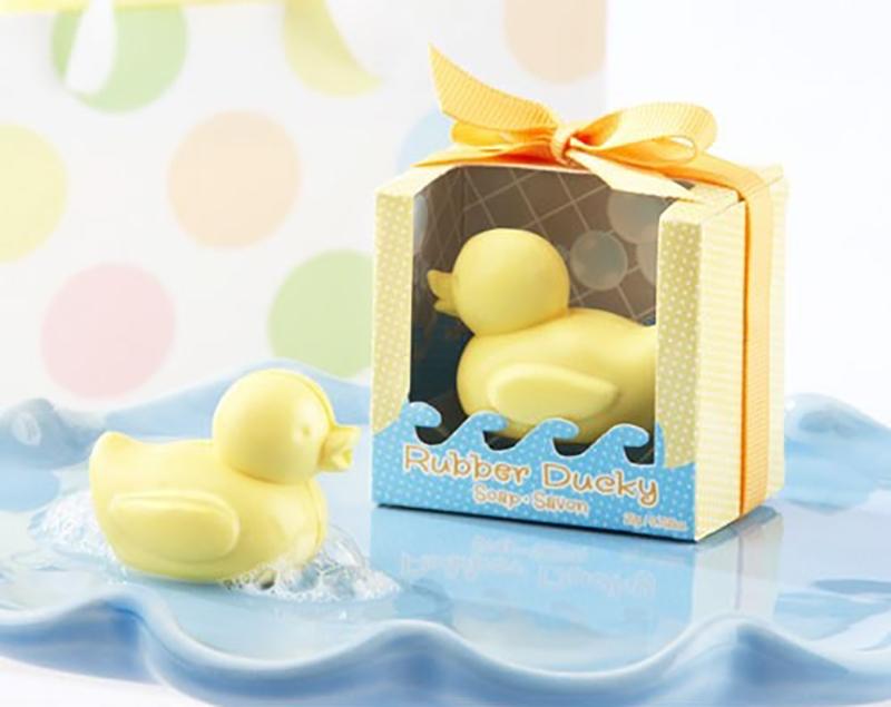 jabón de pato amarillo para recuerdo de bautizo