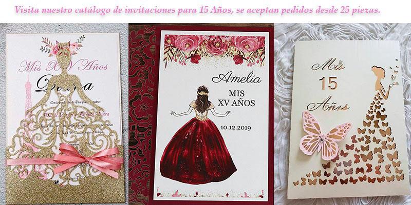 Vista nuestro catálogo de invitaciones para 15 años