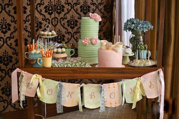 Mesas de dulces y postres para boda y bautizos for Mesa de postres baby shower