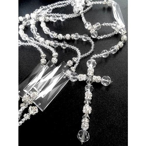 Bellisimo lazo de boda, único y original. Hecho artesanalmente con cristal cortado y detalles en cristales tipo Swarovski.