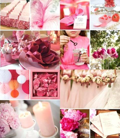 ideas para decorar en boda de rosas