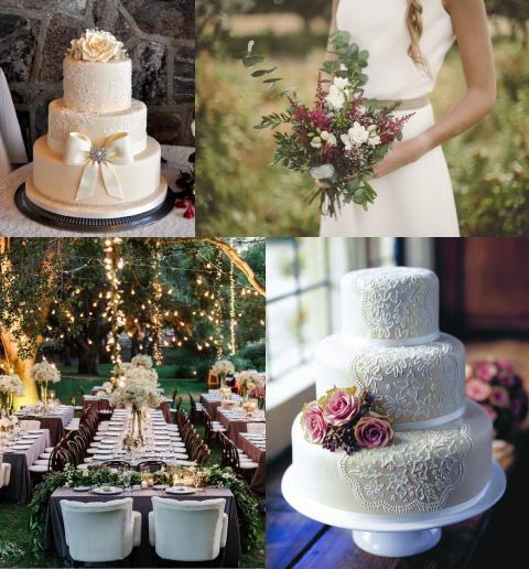 boda tradicional con encaje
