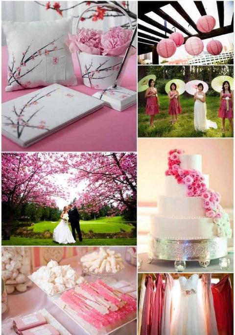 ideas de decoración para boda con rosas con estilo oriental