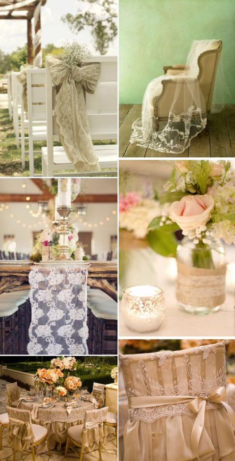 decoración para salón de bodas con temática vintage