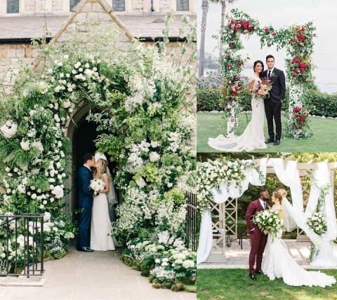 Collange de bodas florales