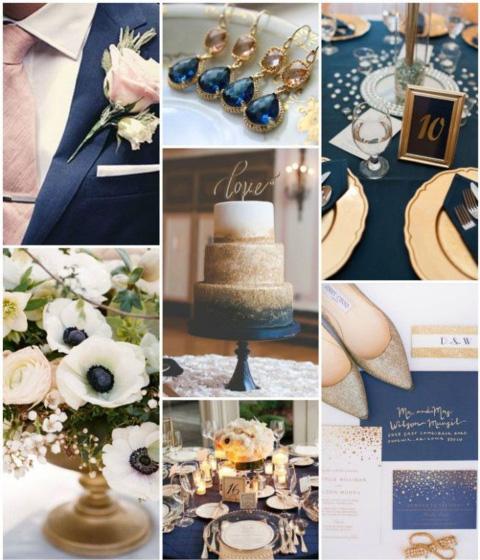 boda tematica azul marino
