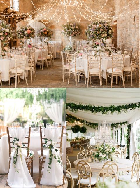 decoracion de salon e iglesia para boda con rosas y flores