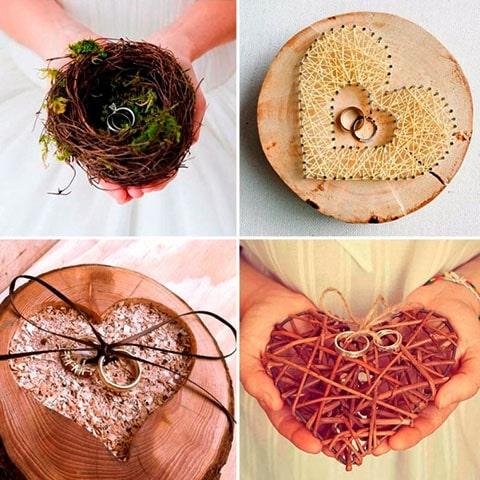 Porta anillos de boda en forma de corazón, acompaña la decoración de tu boda con temática de corazones o tu boda en San Valentín