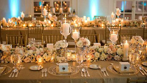 Lazo de Boda Soleil Dorado, lazo para boda con cuentas doradas, para acompañar la decoración en color dorado de tu boda.