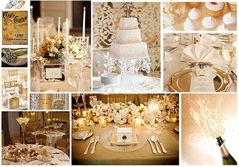 Lazo de Boda Soleil Dorado, lazo para boda con cuentas doradas, que combina con la decoración del salón y accesorios de la novia