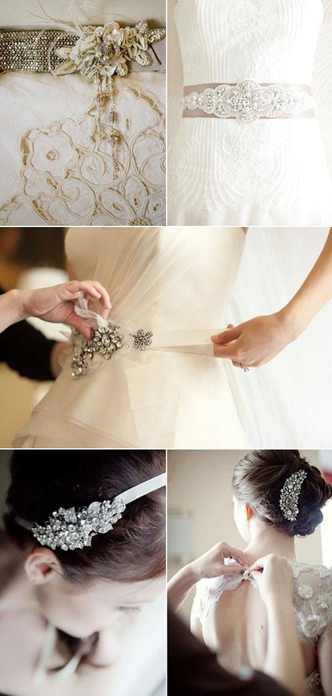Lazo de cristal Hope., lazo de boda con cristales, perfecto para acompañar los accesorios de la novia.