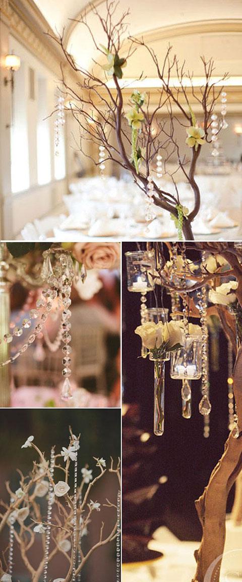 Lazo de cristal Hope., lazo para boda con cuentas de cristales, complemento para el ajuar de los novios, perfecto como complemento de los centros de mesa de tu boda.
