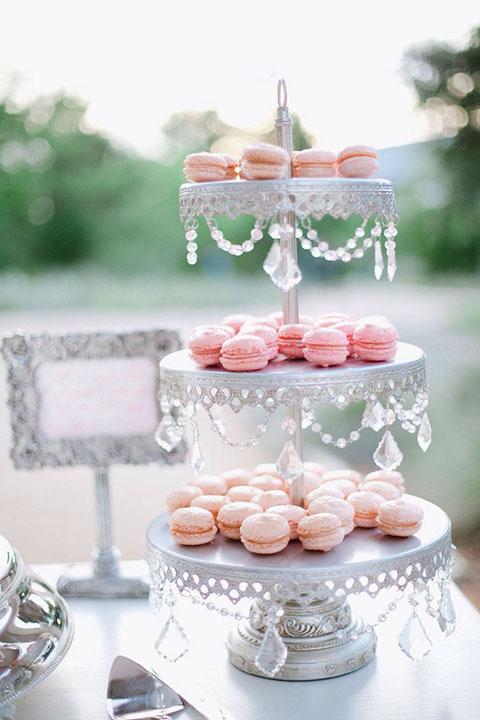 Lazo de cristal Hope, lazo de boda con cuentas de cristal, decora la mesa de dulces de tu boda con cristales.