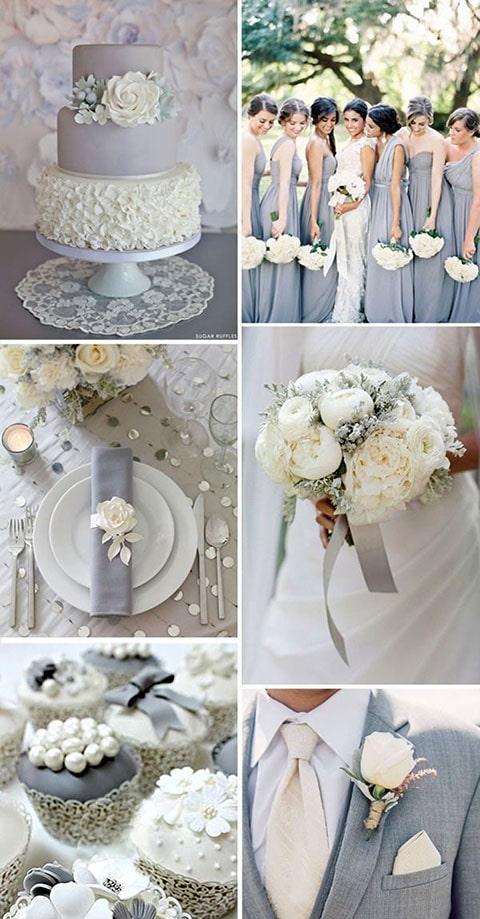 Boda color plta, combinalo con el lazo de boda oval silver.