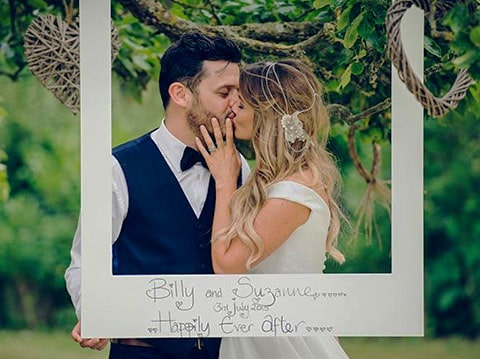 Lazo de boda personalizado con fotografía, personalizaciones para boda con fotografías