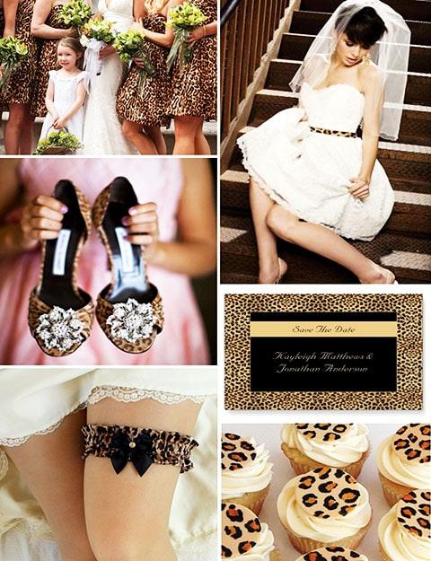 Ideas para boda con diseños impresos de piel de animal, esté kid de manicura animal print sera perfecto para combinar con la decoración.