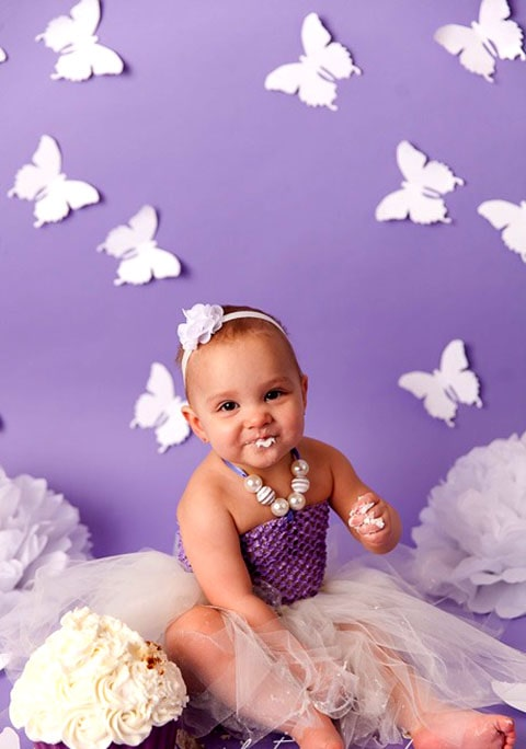 Decoración de mariposas de papel para eventos infantiles