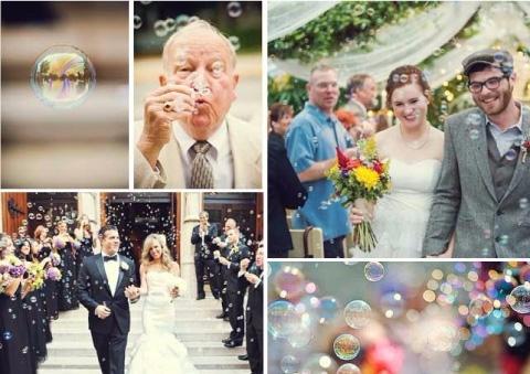boda con burbujas