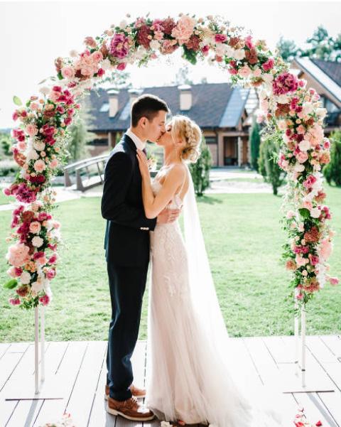 dulcero para boda novios besandose