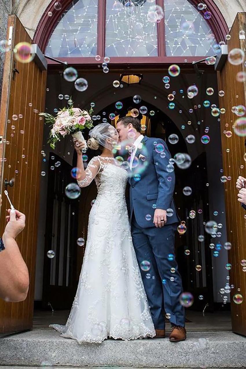 burbujero de gel para boda