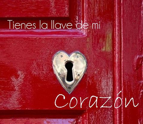 puerta con llave del corazón
