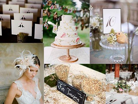 ideas para bodas tematica pajaros